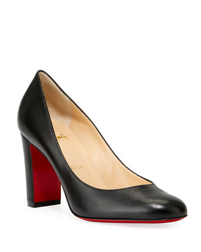 77f7306e201c Lady Gena Block-Heel Leather Pumps Quick Look. Christian Louboutin