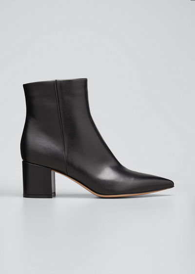 Calf Leather Ankle Booties