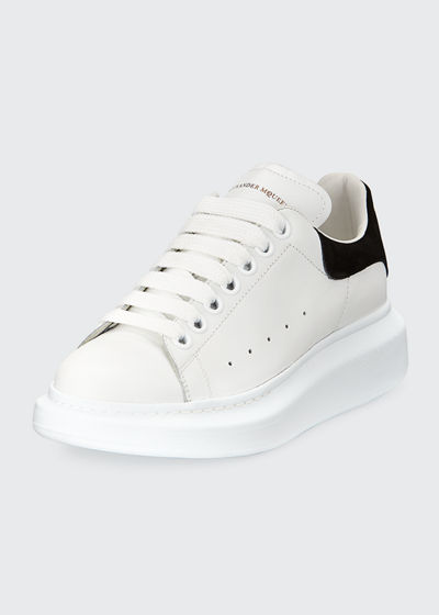 ad40bd1c3ab8a Alexander McQueen Leather Lace-Up Platform Sneakers