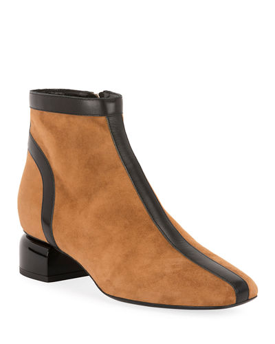 Frame Two-Tone Booties