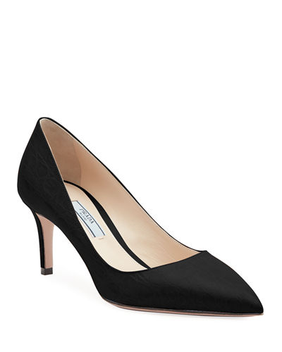 Croco Point-Toe 65mm Pumps
