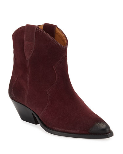 Dewina Suede Pointed Booties