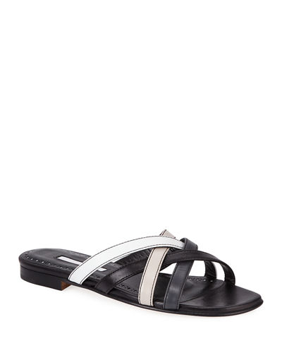 Fetiz Strappy Flat Slide Sandals
