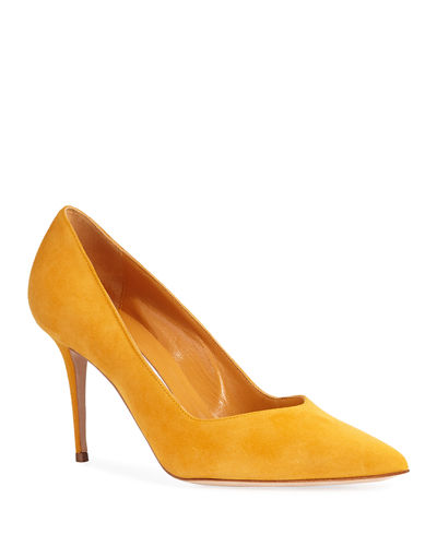 Eris V-Neck Suede Pumps