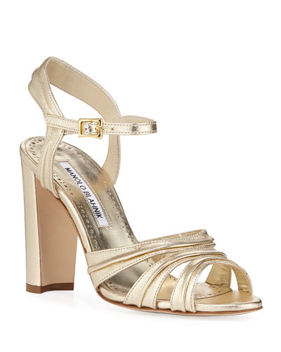 Gazo Metallic Leather 105mm Sandals