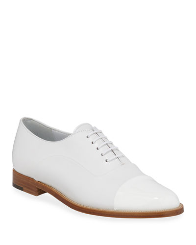 Rodita Cap-Toe Leather Oxfords