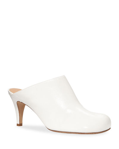 Square-Toe Wave Slide Mules