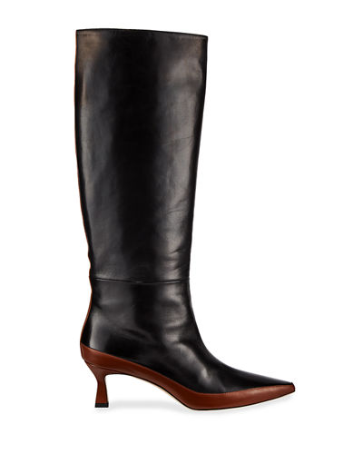 Bente Two-Tone Knee Boots