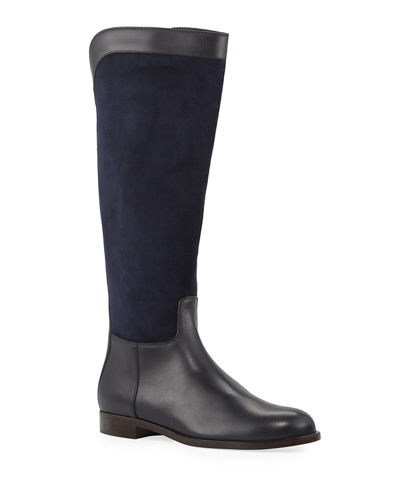 Welly Calf Flat Riding Boots