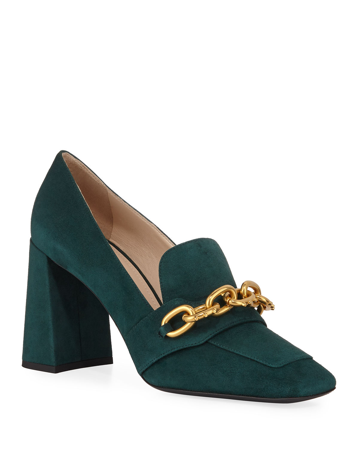 Prada Loafers SUEDE LOAFER-STYLE PUMPS