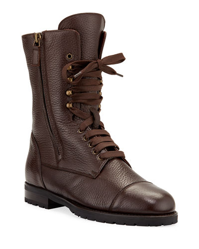 Campcha Leather Lace-Up Boots