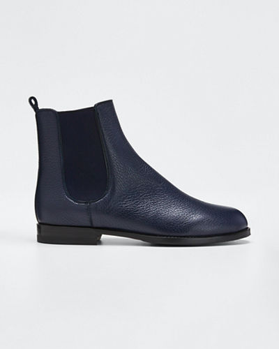 Chelsea Leather Gored Booties by Manolo Blahnik
