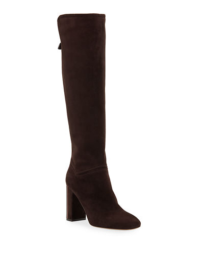 Jeanne Suede Knee Boots