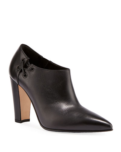 Samos Side Lace-Up Ankle Booties