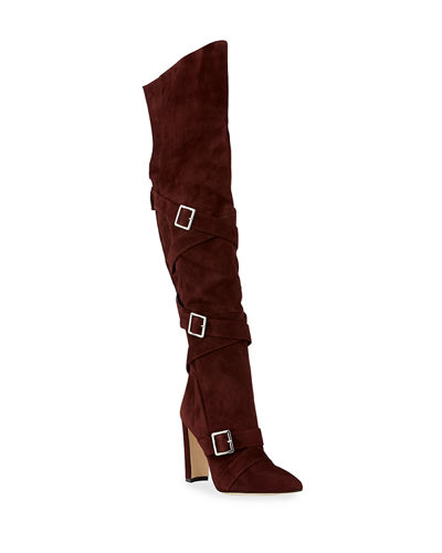 Josimhi Suede Over-The-Knee Boots