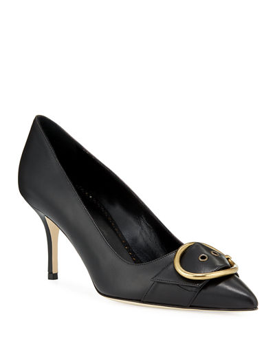 Grigisa Leather Buckle Pumps