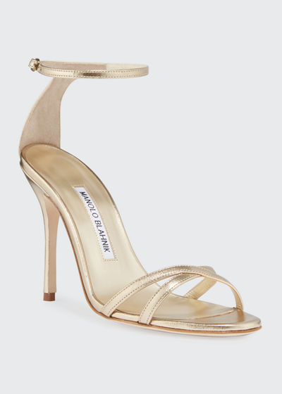 Paloma Metallic Strappy Sandals