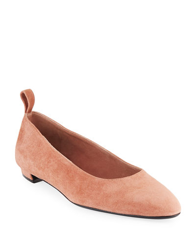 Pointed Suede Ballet Flats