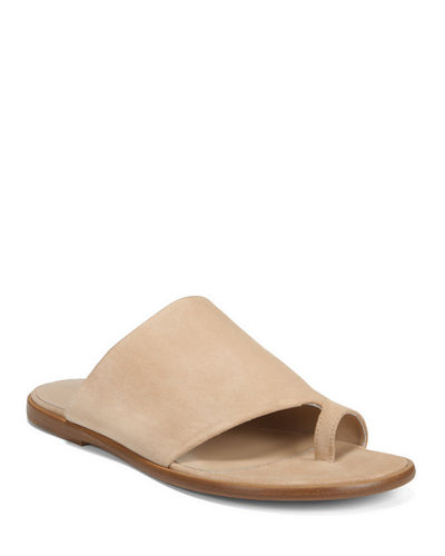 Edris Flat Sport Suede Slide Sandals