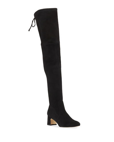 Kirstie 60mm Suede Over-The-Knee Boots