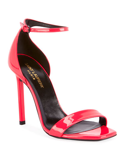 Neon Patent Leather Sandals