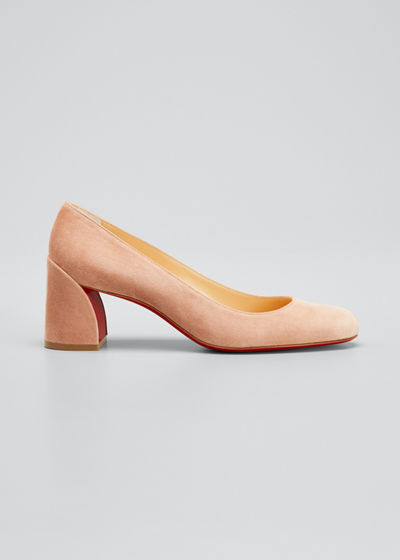 Miss Sab Suede Red Sole Pumps