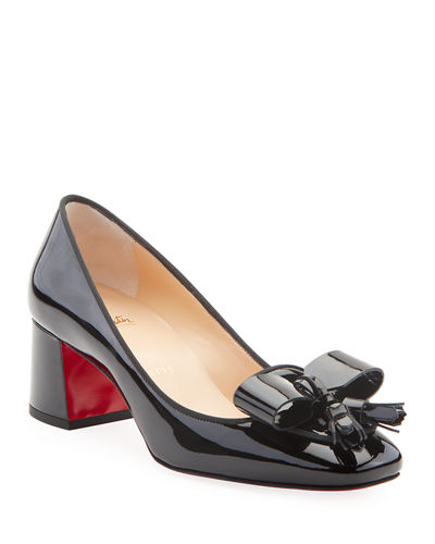 Carmela Patent Leather Bow & Tassel Red Sole Pumps