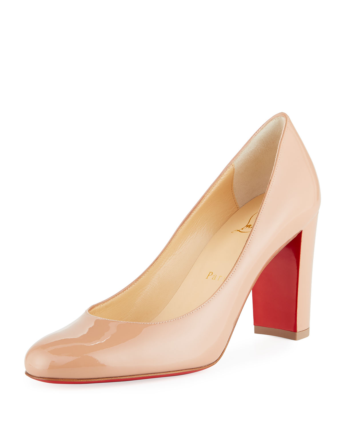 more photos new styles ever popular Christian Louboutin Lady Gena Patent Red Sole Pumps - Big Apple Buddy