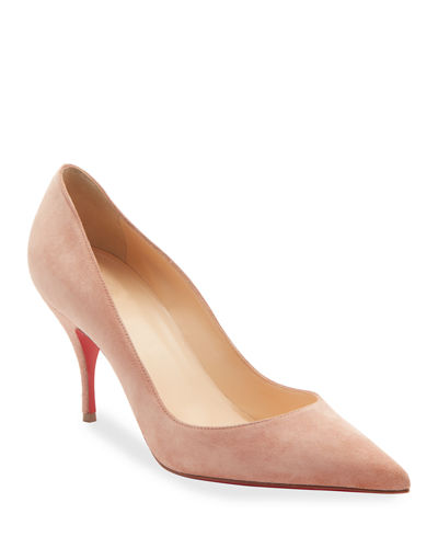 Clare Suede Red Sole Pumps