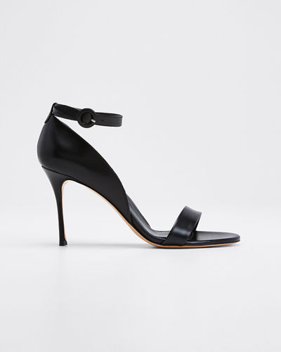 Larkspur Leather Ankle Strap Sandals