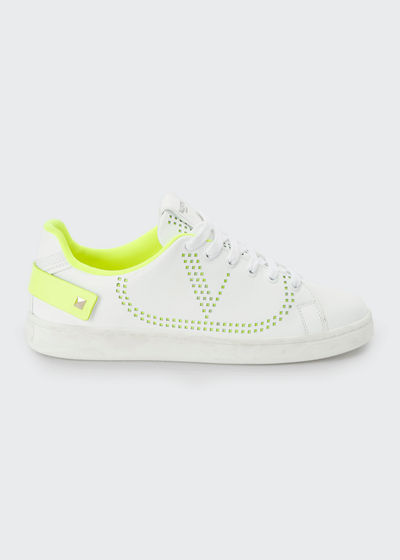 Backnet Low-Top Sneakers with Neon Rockstud Tab