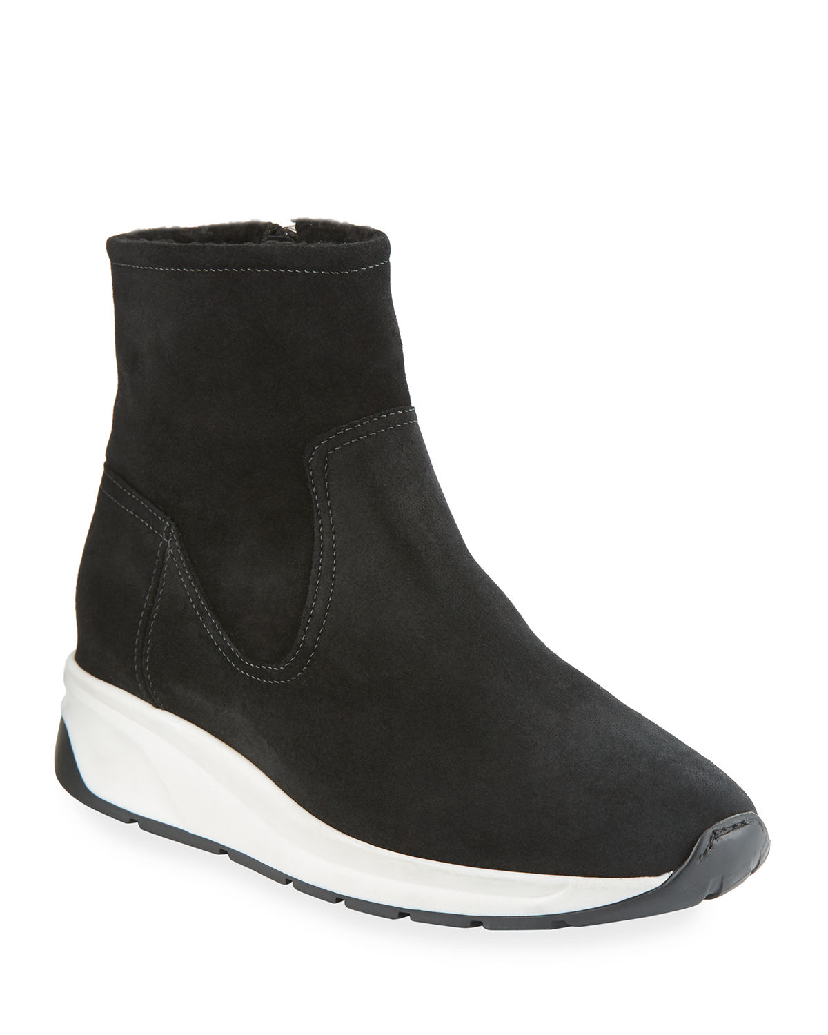 Aquatalia Sneakers BETTY HIGH-TOP SNEAKERS WITH SHEARLING LINING