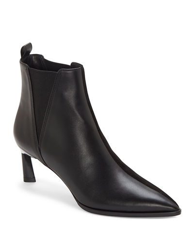 Mc Eletta 60mm Two-Tone Mixed Leather Booties
