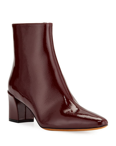 Lanica Patent Leather Zip Booties