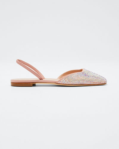 Flat Suede and Crystal Halter Flats