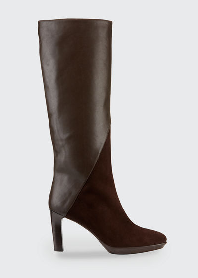 Rayne Mixed Leather Boots