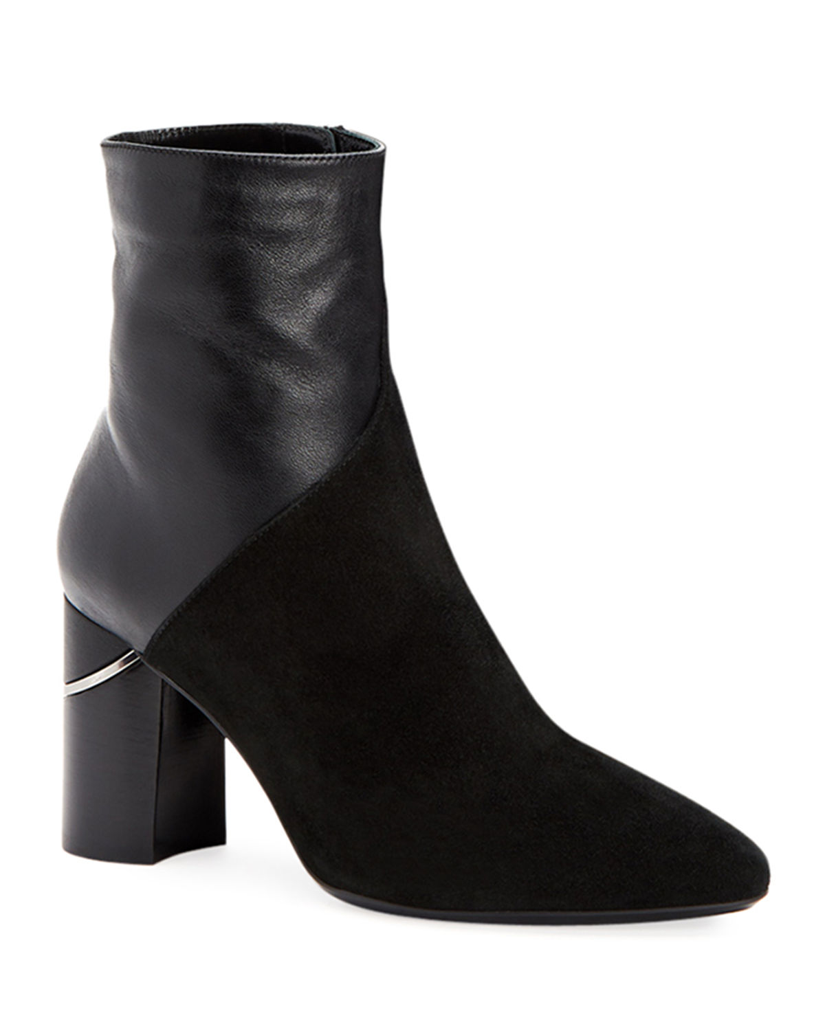 Aquatalia Boots PALMA LEATHER AND SUEDE BOOTIES