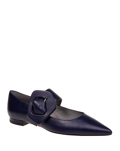 Mia Pointed-Toe Mary Jane Loafers