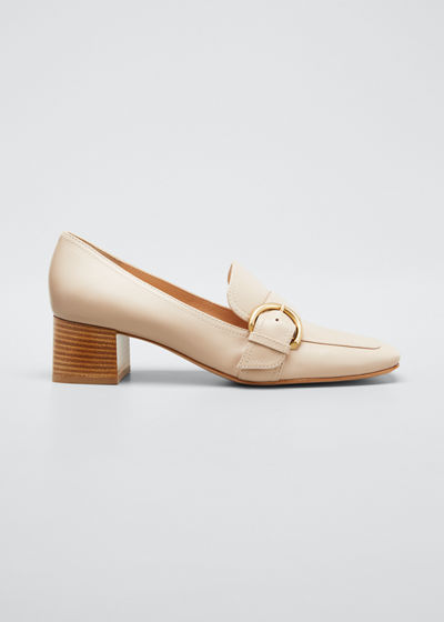 45 mm Square-Toe Leather Loafers
