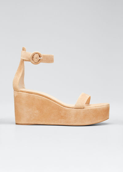 Ankle-Strap Flatform Wedge Sandals