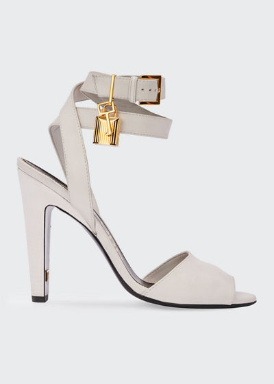 Leather Lock-And-Key Sandals