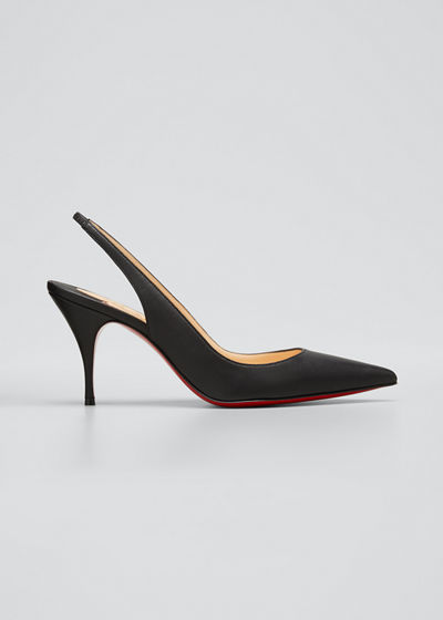 Clare Sling 80 Napa Red Sole Pumps