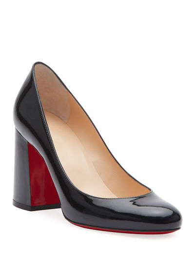 Baobab 85 Patent Red Sole Pumps