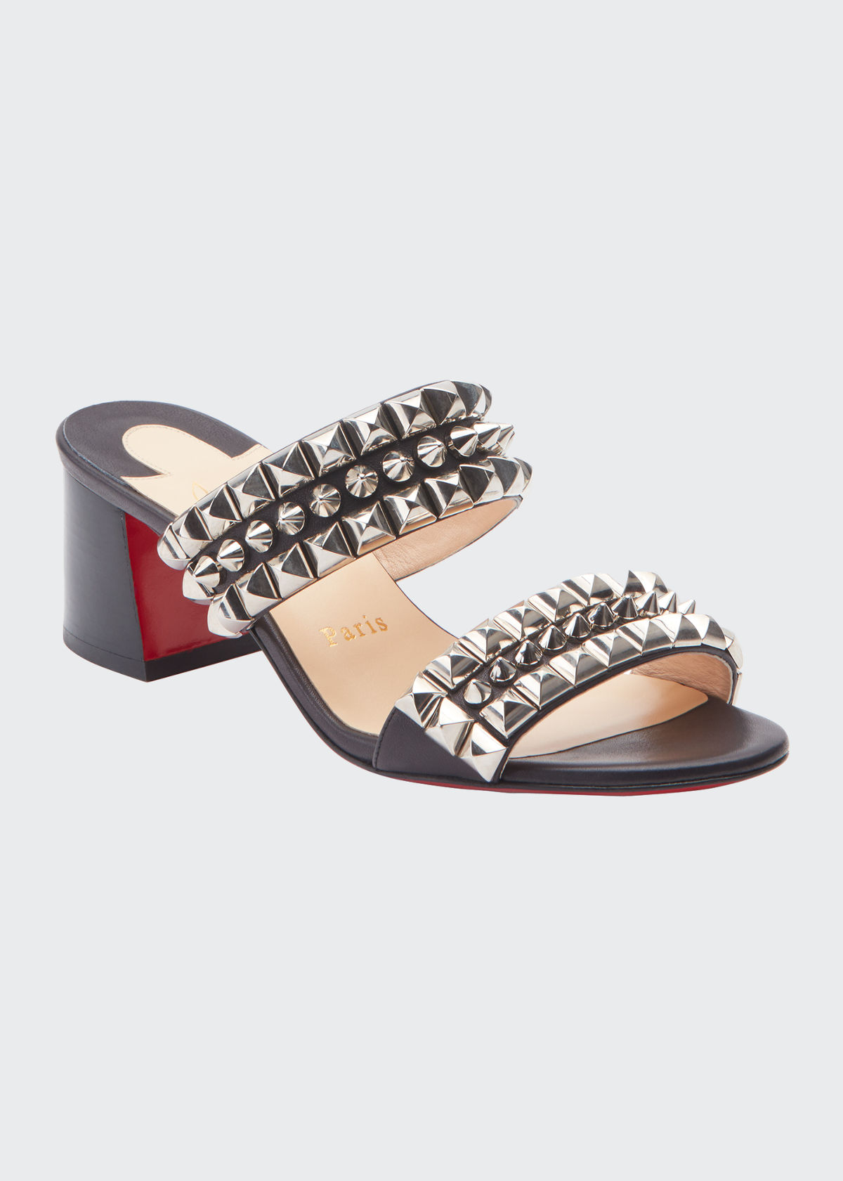 Christian Louboutin Leathers TINA GOES MAD 55 LEATHER RED SOLE SANDALS
