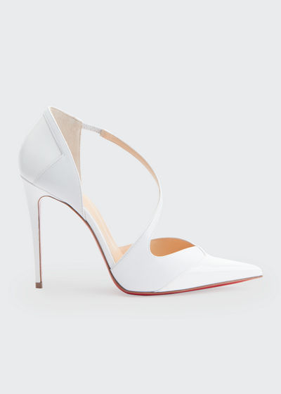 Round And Square 100 Red Sole Pumps
