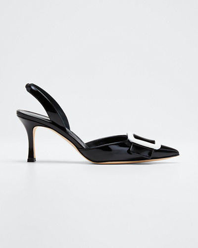 May Patent Slingback Pumps