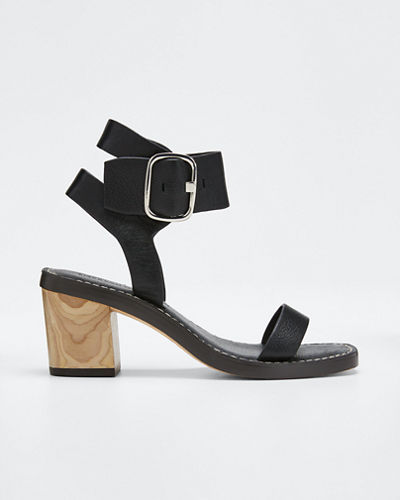 Dalila Leather Buckle Strap Sandals