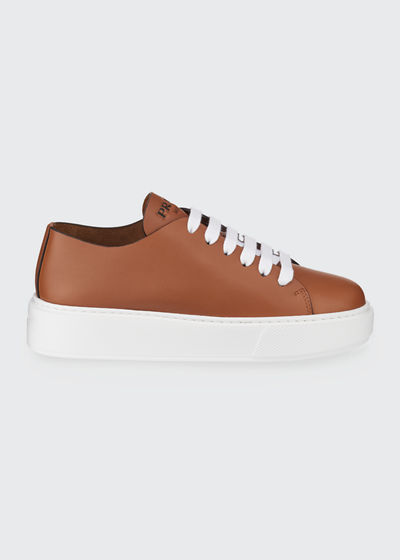 Leather Flatform Sneakers