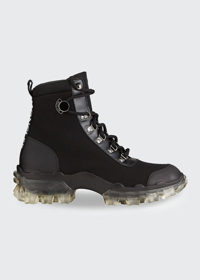 Helis Canvas Lace-Up Hiking Boots