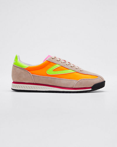 Rawlin S10 Neon Suede Sneakers